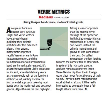Verse Metrics - Prog - Review